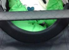 Kinderwagendecke auf Liegefläche